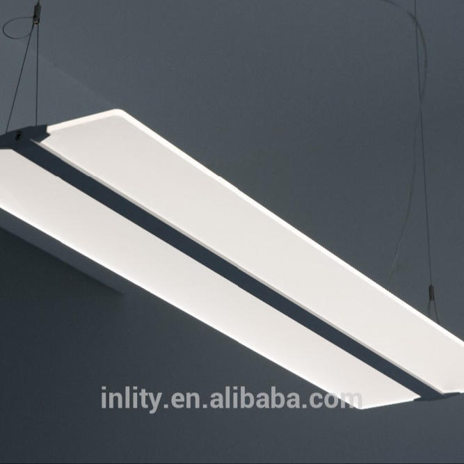 36W Clear Panel Office Light,Hanging Commercial Clear Panel Project Light
