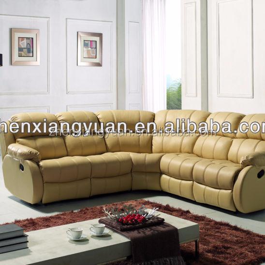 2018 living room furnitures leather corner recliner sofa cum bed
