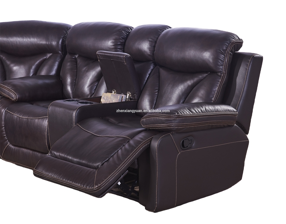 New Living room contemporary Sectional Sofa SetAir leather Sofa Loveseat W Console Wedge