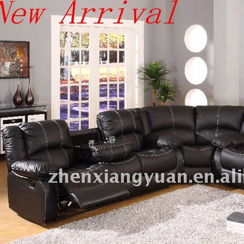 modern living room furnitures corner leather sofa sectional recliner sofa