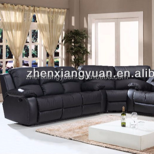 2020 Modern leather Reclining sectional Sofa Set furniture corner sofa