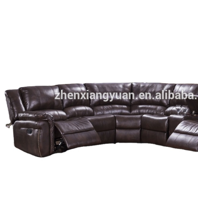 Living roomNewest General Use hot-selling Furniture of America Corner Sectional recliner motion Sofa