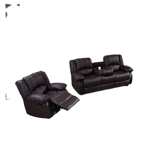 2021 living room furniture leather reclining sofa traditional corner with consoles