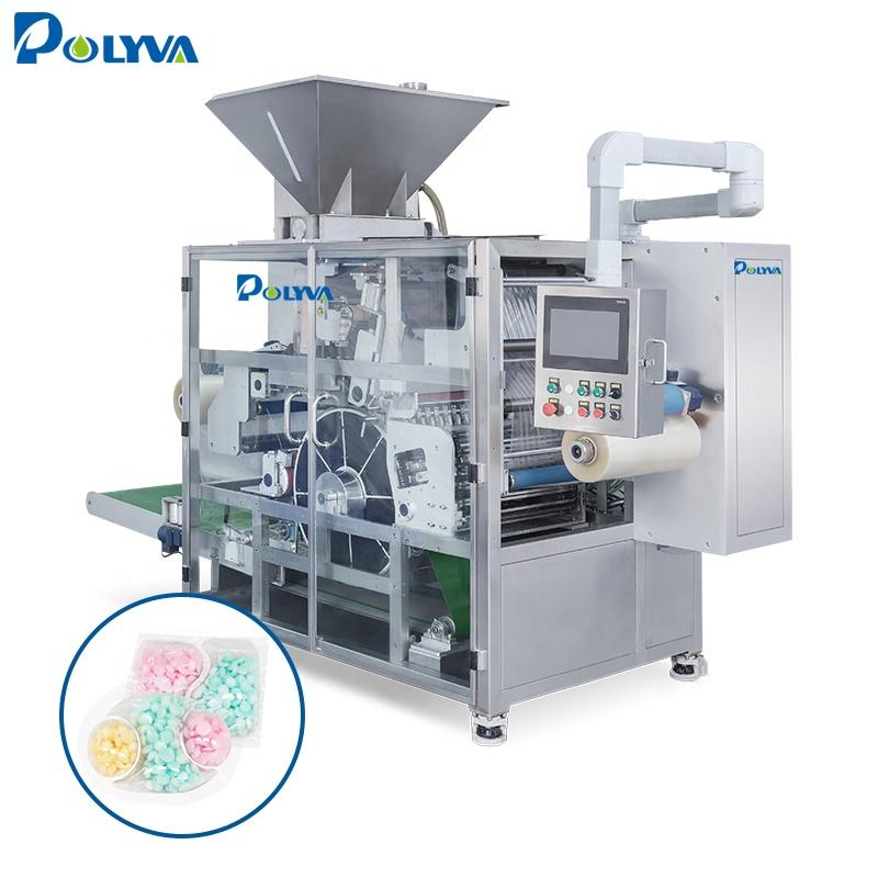 Polyva powder laundry pods packaging machine water soluble film Multi-Function rotary pillow laundry pods packing machine