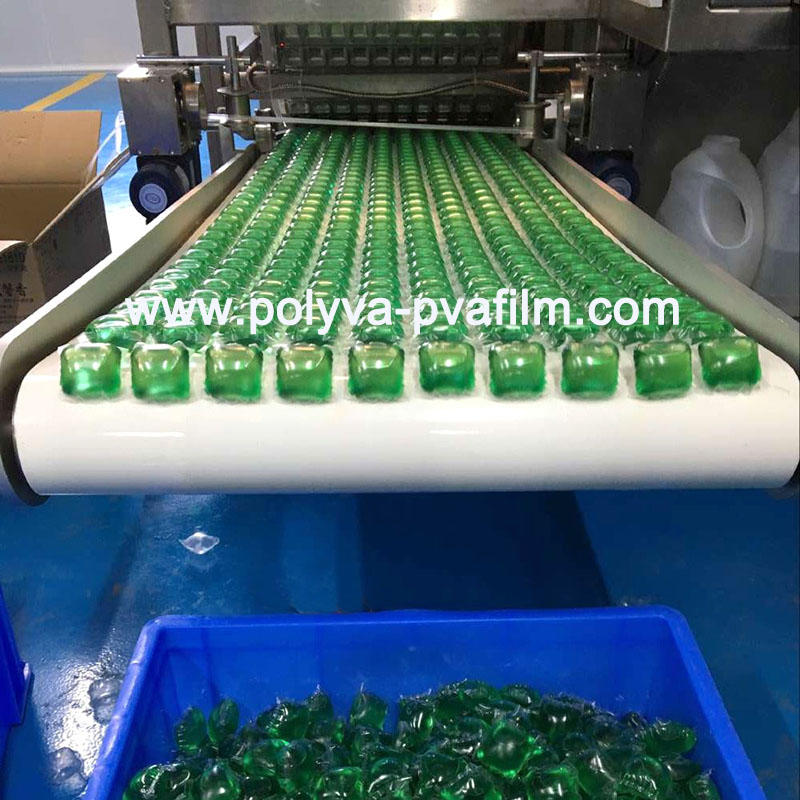 POLYVA Customizable mold 5g-30g automatic Water Soluble film package washing powder packing machine
