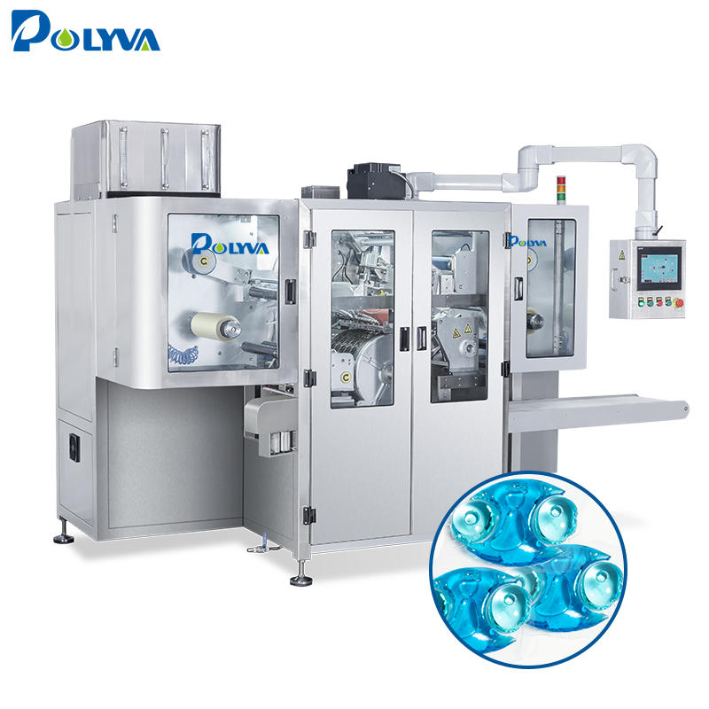 Polyva cheap price detergent automatic liquid packaging machine laundry pods filling machine.