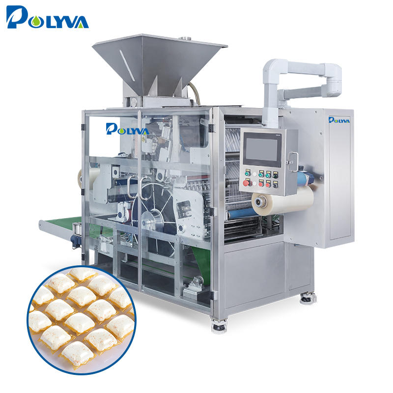 water soluble film laundry detergent pods form fill seal packing machine