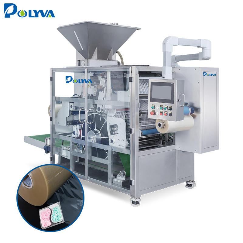 Polyva machine China factory washing powder detergent filler washing pod automatic powder packaging machine
