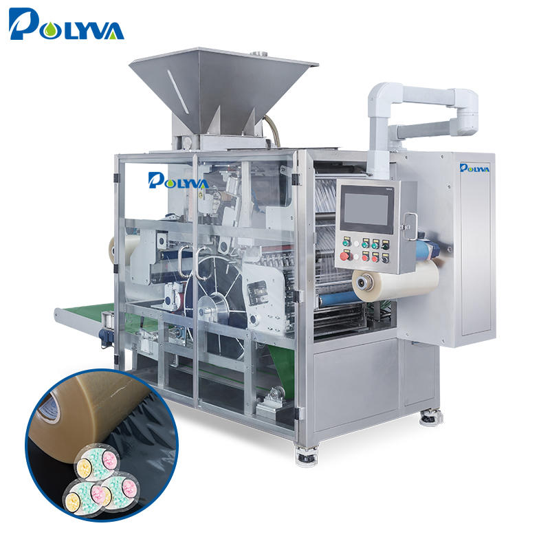 good price high capacity rotary drum type water soluble pva capsules laundry detergent pods packing machine dual chamber