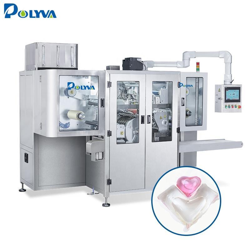 Polyva double chamber liquid concentrated detergent capsules machine laundry pods liquid detergent machine