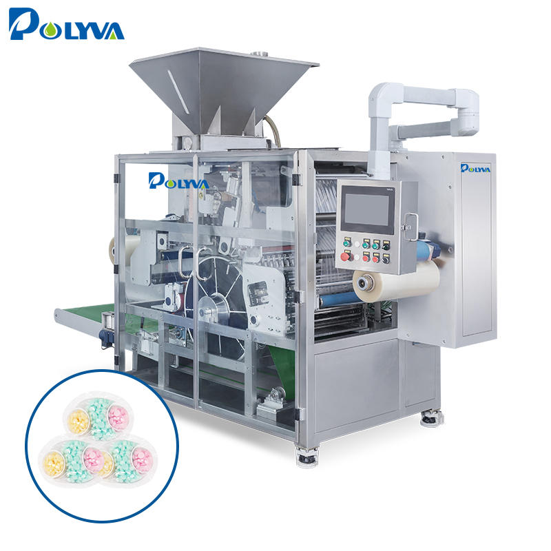 POLYVA high speed automatic 10-50g various shapes liquid powder laundry detergent pods packaging machine