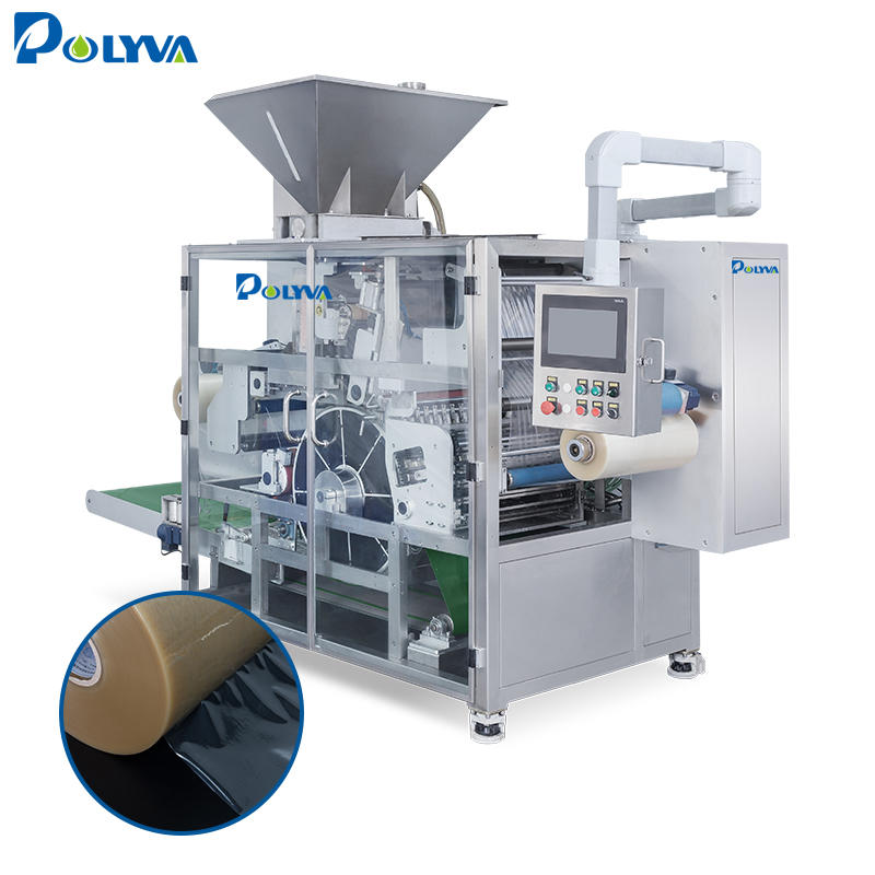 POLYVA factory 2018 high speed automatic laundry powder pods filling packaging machine OEM machine washing capsules