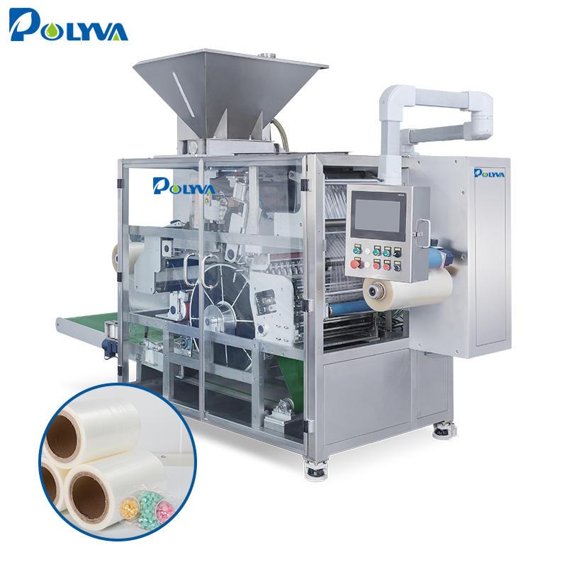 Polyva machine multi shapes laundry pods filling packing machine water soluble film liquid detergent making machine