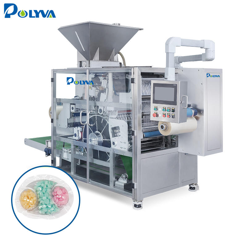 POLYVA PVA water soluble film laundry pods packaging machine with cleaner liquid/powder