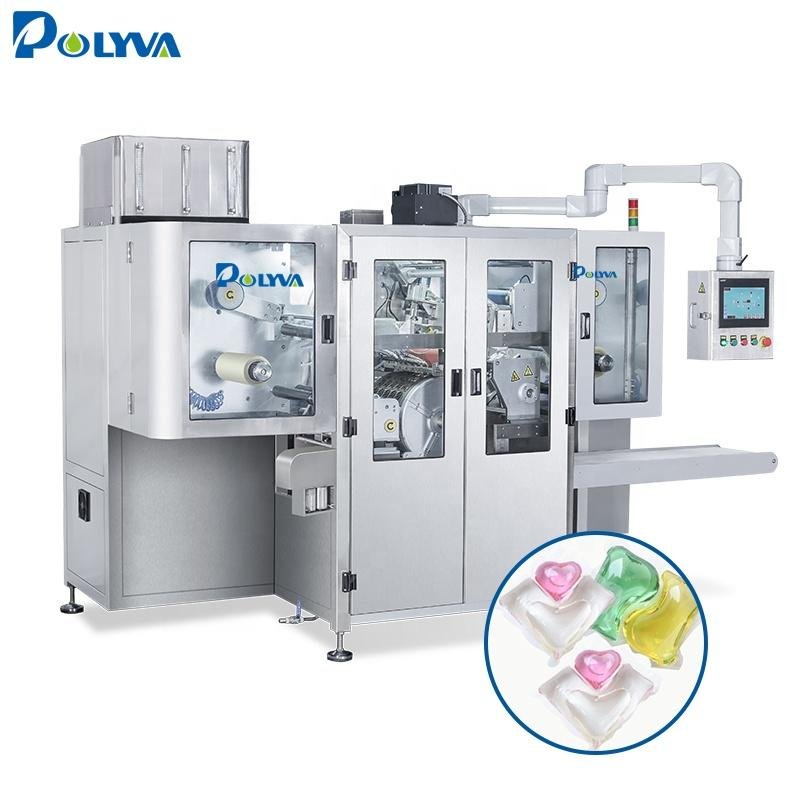 Polyva high speed rolling dump liquid detergent machine laundry pods packing filling machine fully automatic laundry machie