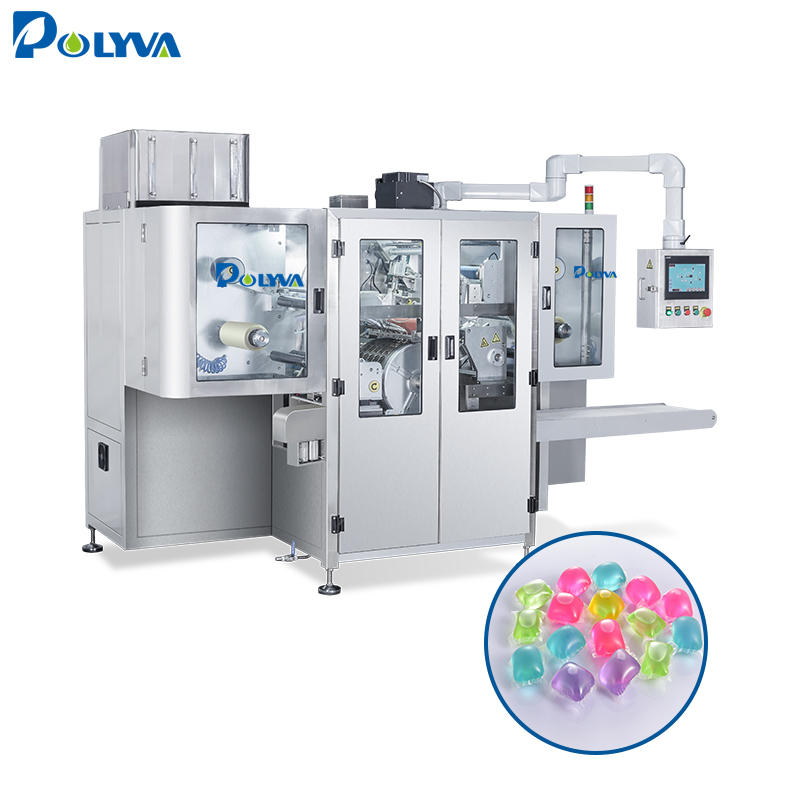 Polyva China suppliers automatic detergent pods liquid detergent filling packing machine low bubble liquid soap packing machine