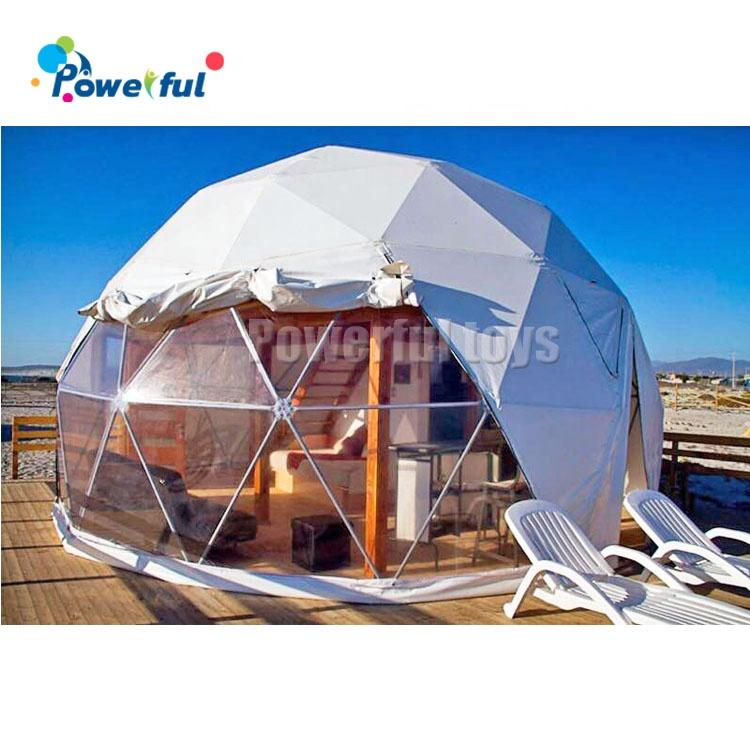 Giant steel dome tent steel structure frame igloo