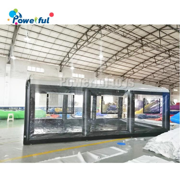 Transparent inflatable car capsule tent, inflatable car storage tent, inflatable car showcase tent for sale