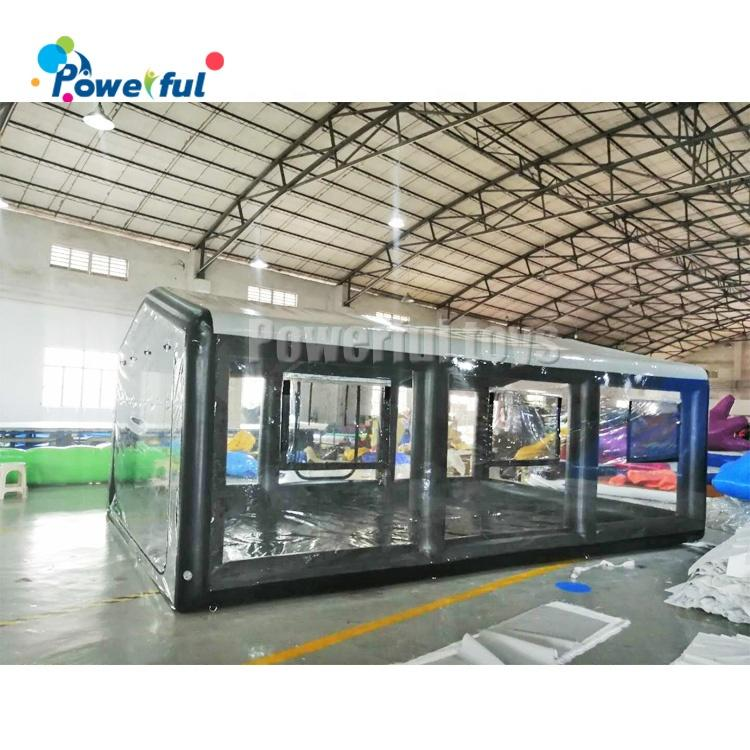 Waterproof inflatable car capsule PVC transparent garage tent for car