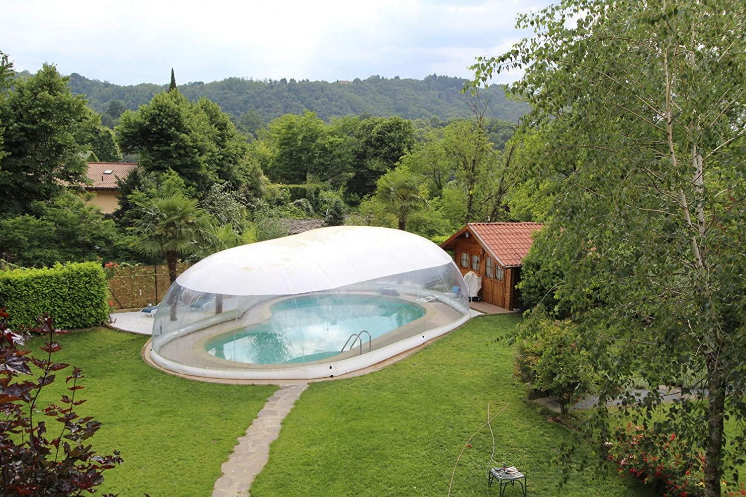 Clear Above Ground Swimming Pool Bubble Dome TentInflatable Hot Tub Swimming Pool Enclosure Solar Dome Cover Tent