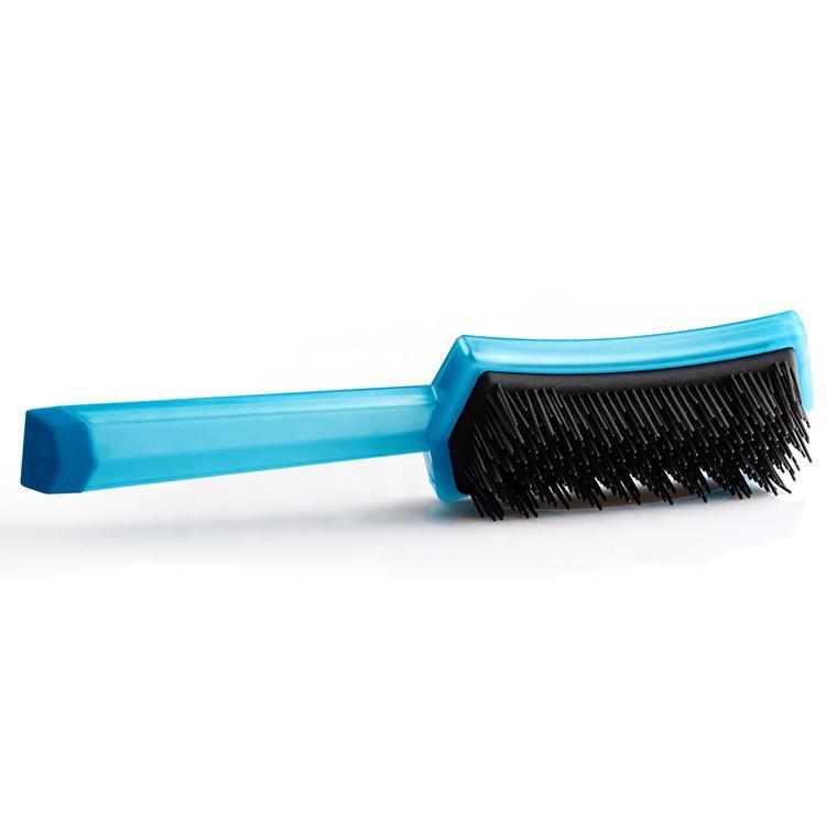 Private Label Cushion Plastic Massage Paddle Detangling Hair Brush