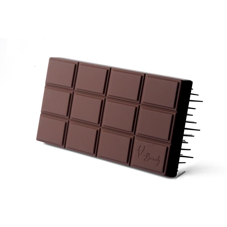 Hair Care Brush Massager Cushion Chocolate Shape Salon Use Hair Brush