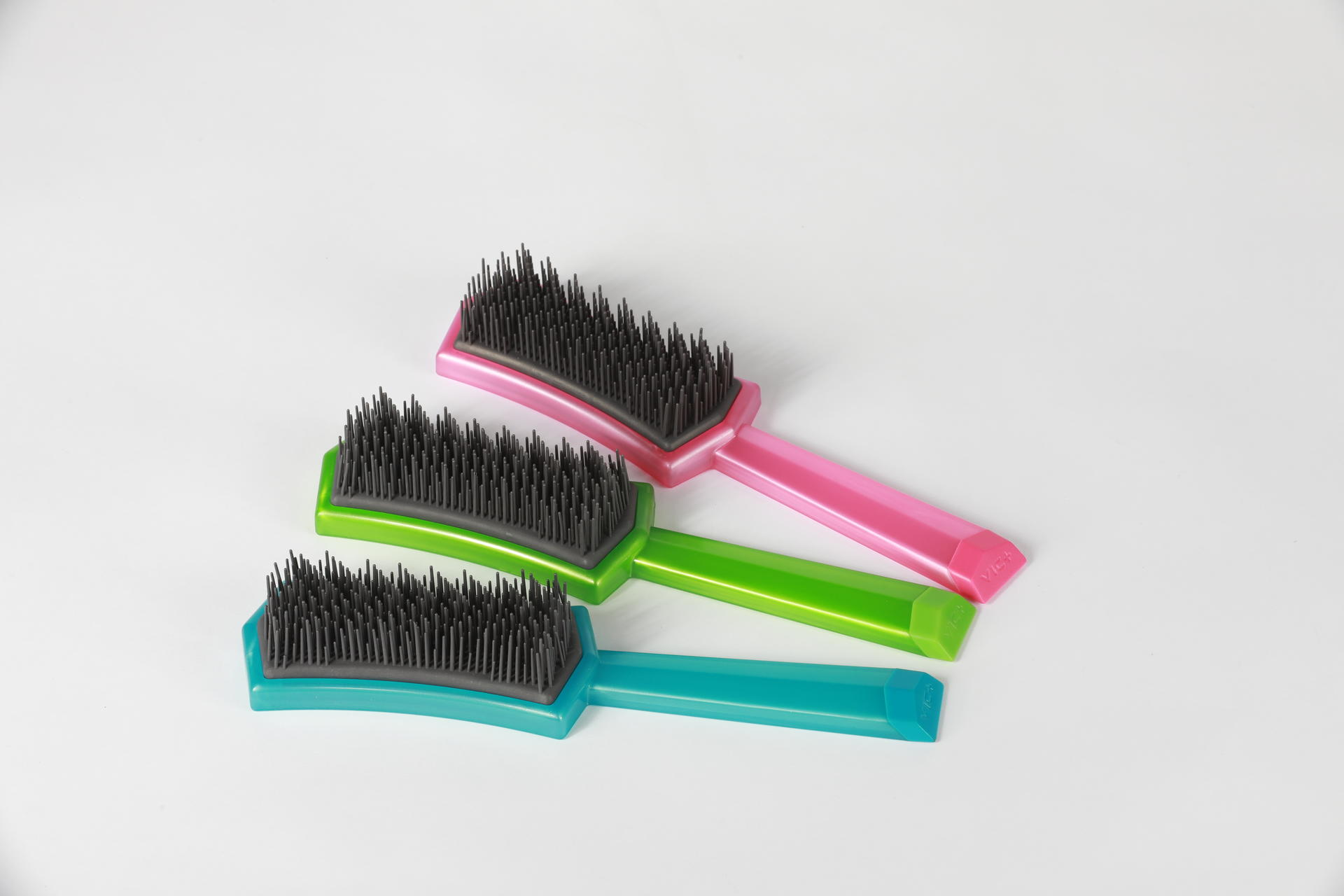 professional plastic fashionable plastic girls hair comb hairbrush brush salon care makeup
