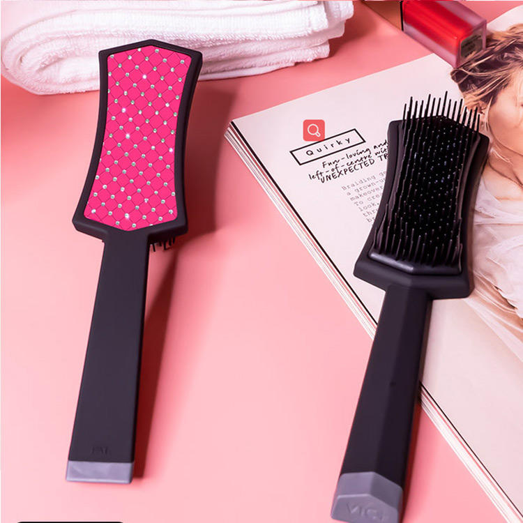 Custom Sparkle Diamond Beads Hand Made Magic Paddle Brush Hair combs
