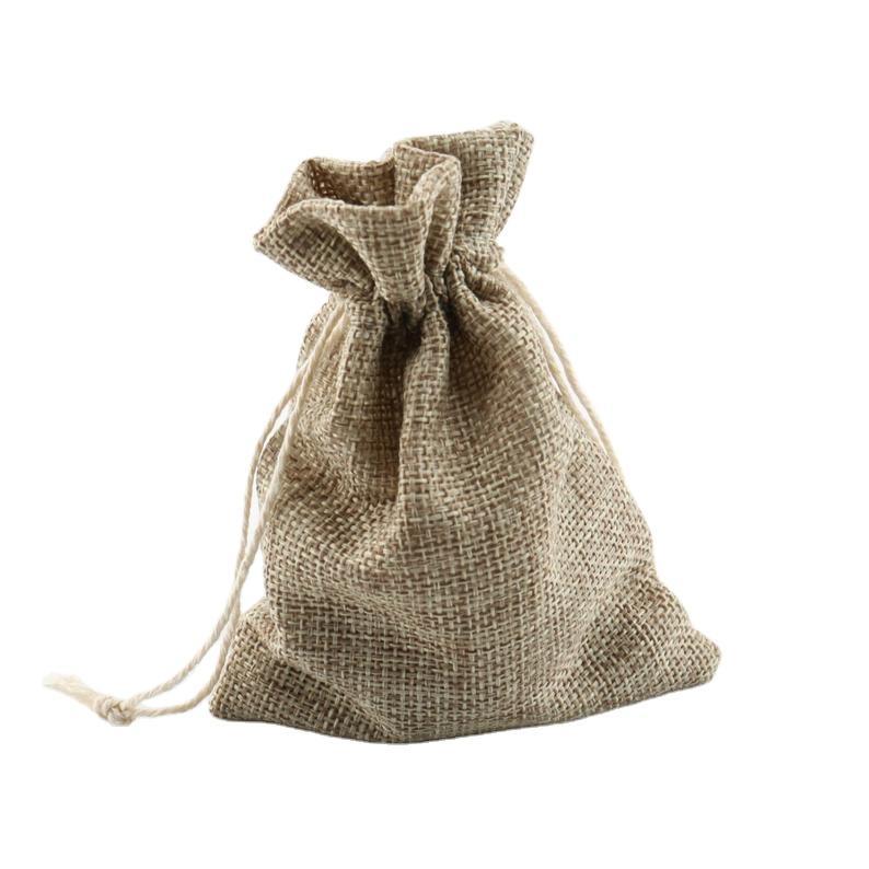GF-JT2011 linen Drawstring Christmas Wedding Party Reusable gift bags