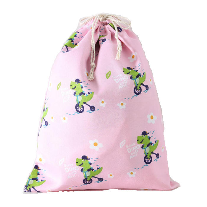 Eco Polyester Cotton Shopping Bag Avocado Flowers Drawstring Shopping Bags Cute Grocery pouch Portable Summer Travel Shoes Bag
