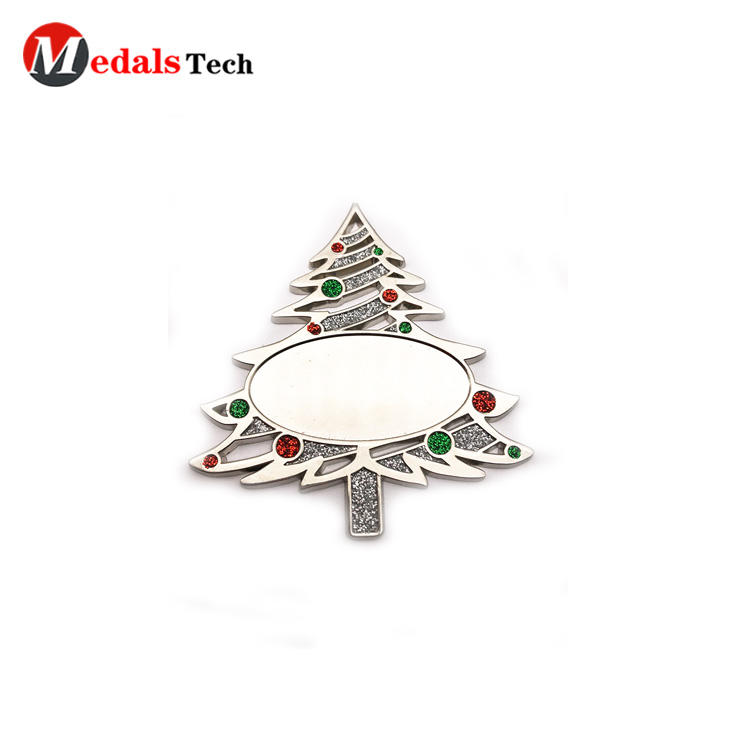 2019 cheap promotion mini Santa metal gift tree with gillter
