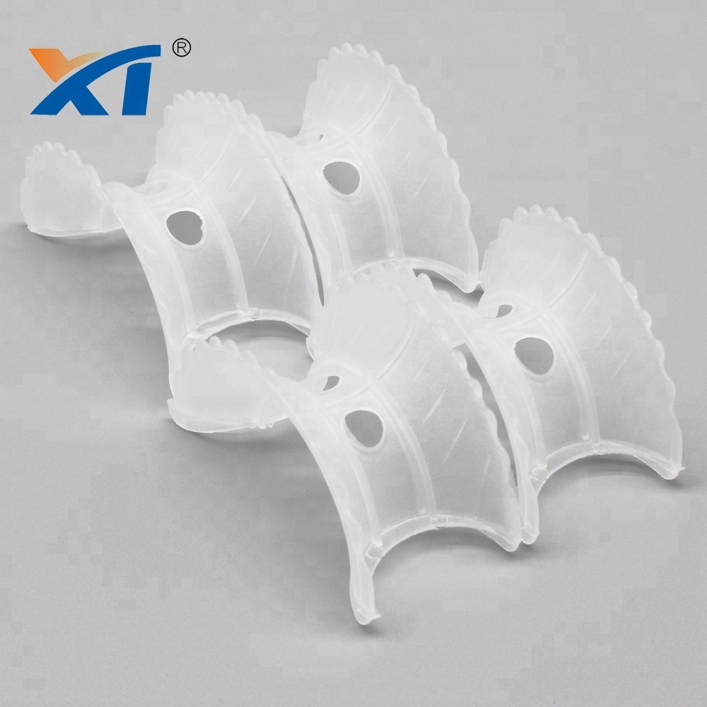 76mm Plastic Intalox Super Saddle random packings in chemicals