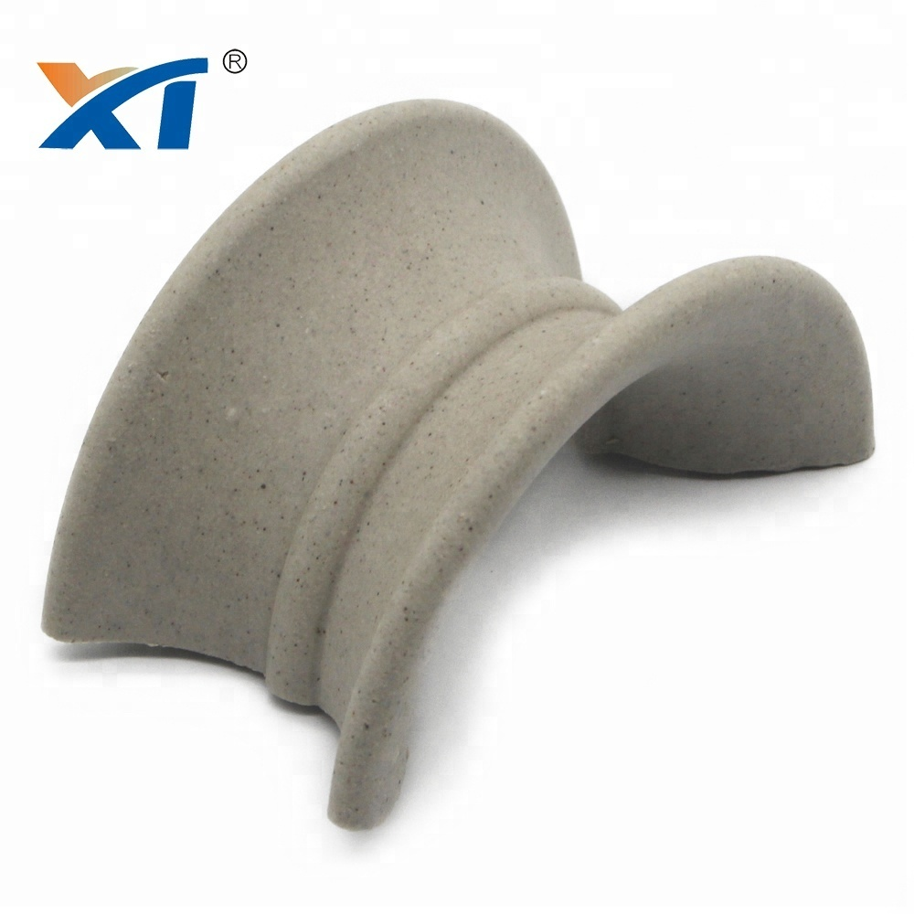 50mm 75mm ceramic saddle packing in acid plant