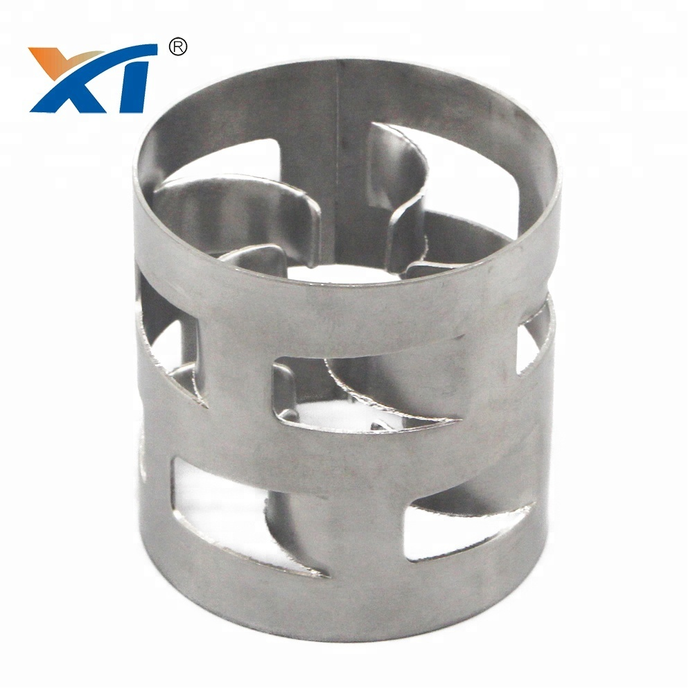2205 stainless steel SS304 50mm metal pall ring for petrochemical industry