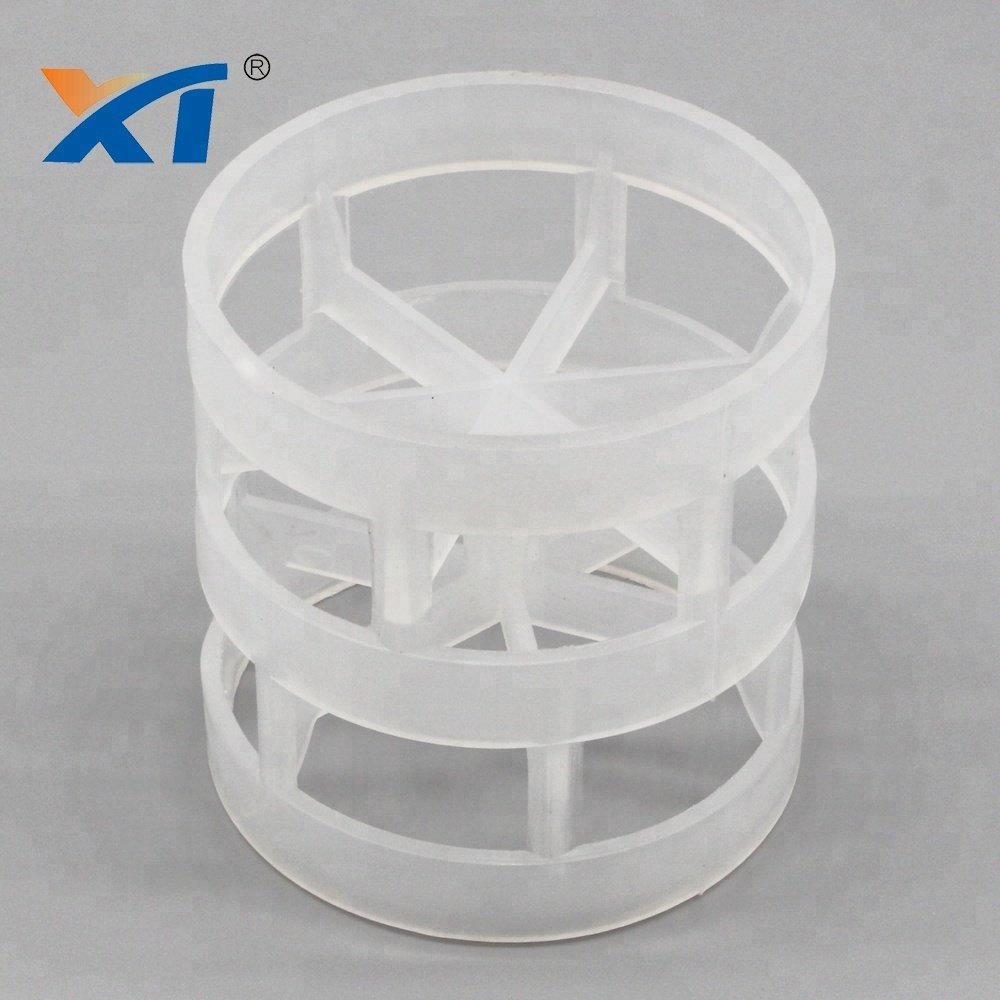 Cheap chemical corrosion resistant PP PVC 50mm plastic pall ring