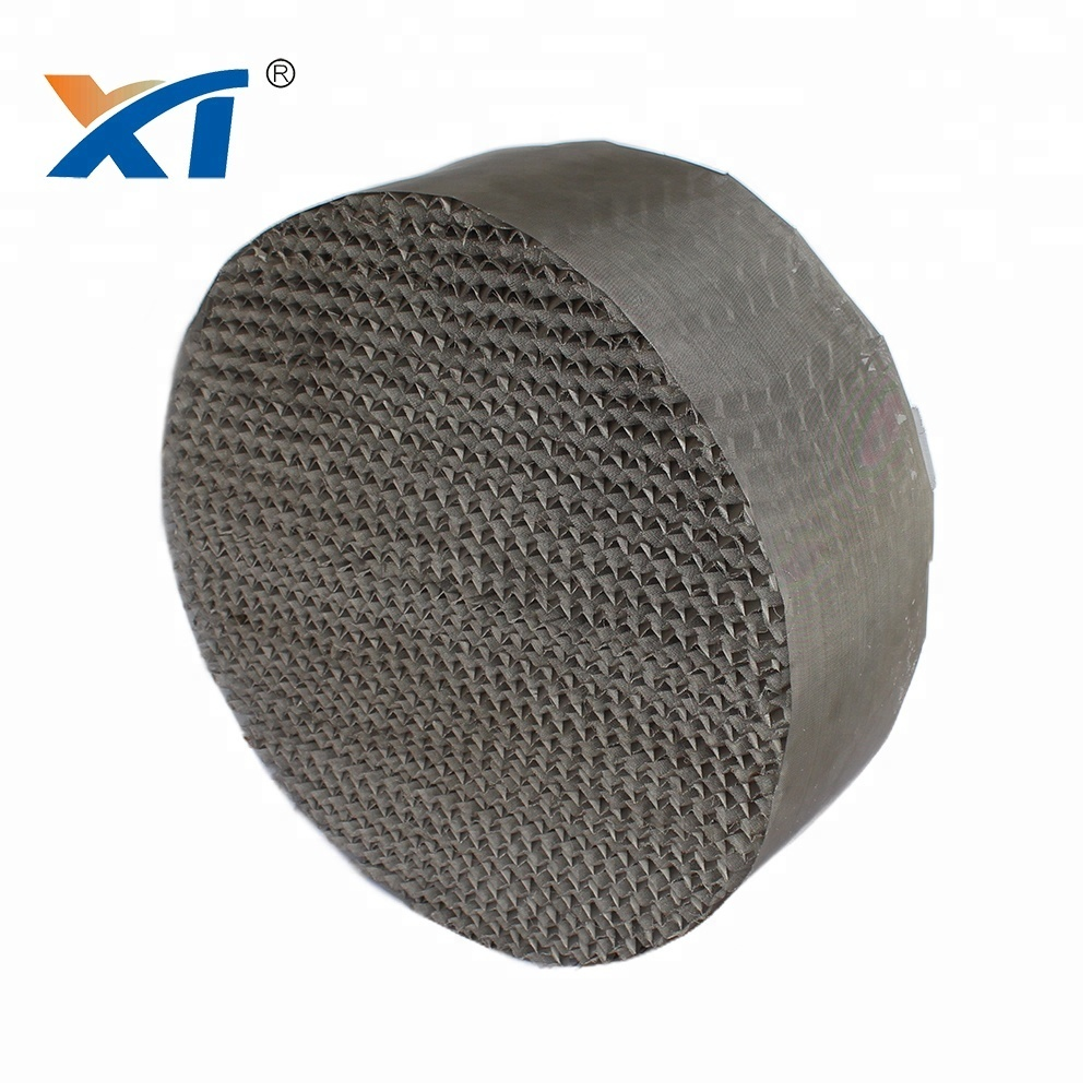 SS304 Metal wire gauze structured packing in scrubbing tower