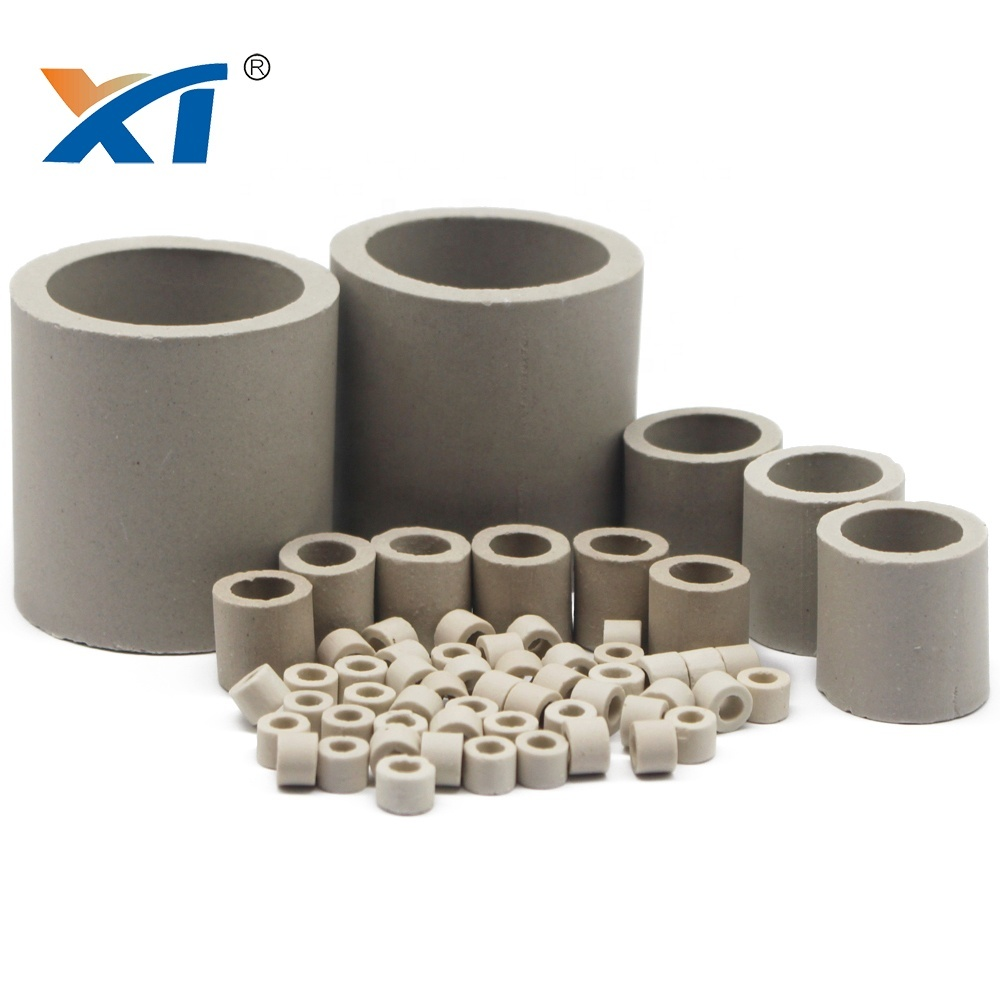 10mm Ceramic raschig ring packing with acid resistance and heat resistance