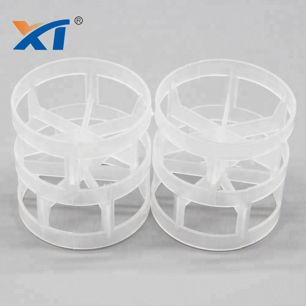 Column chemical tower packing filtering waste gas 1inch plastic pall ring