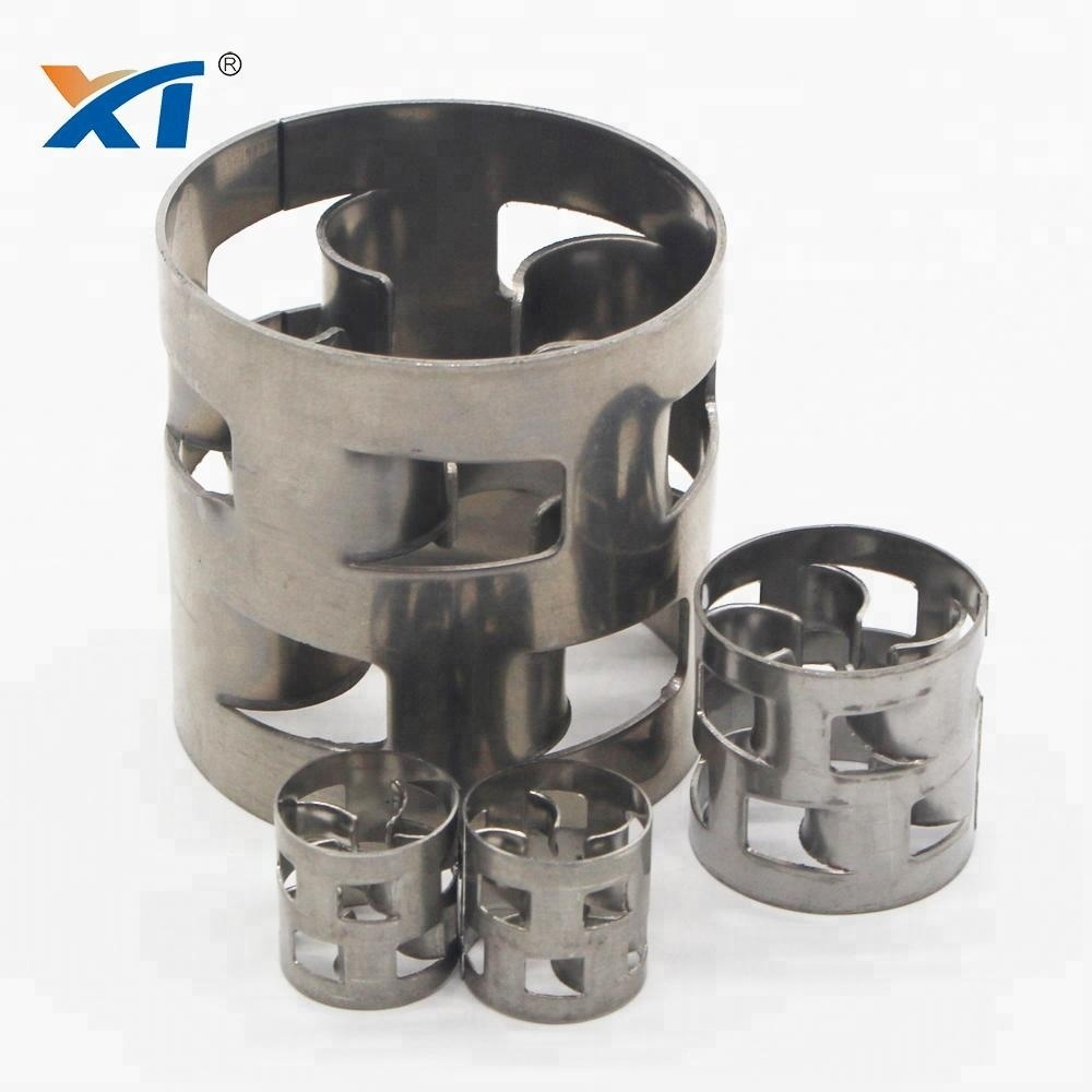 Stainless steel 304L metallic pall ring for absorption tower
