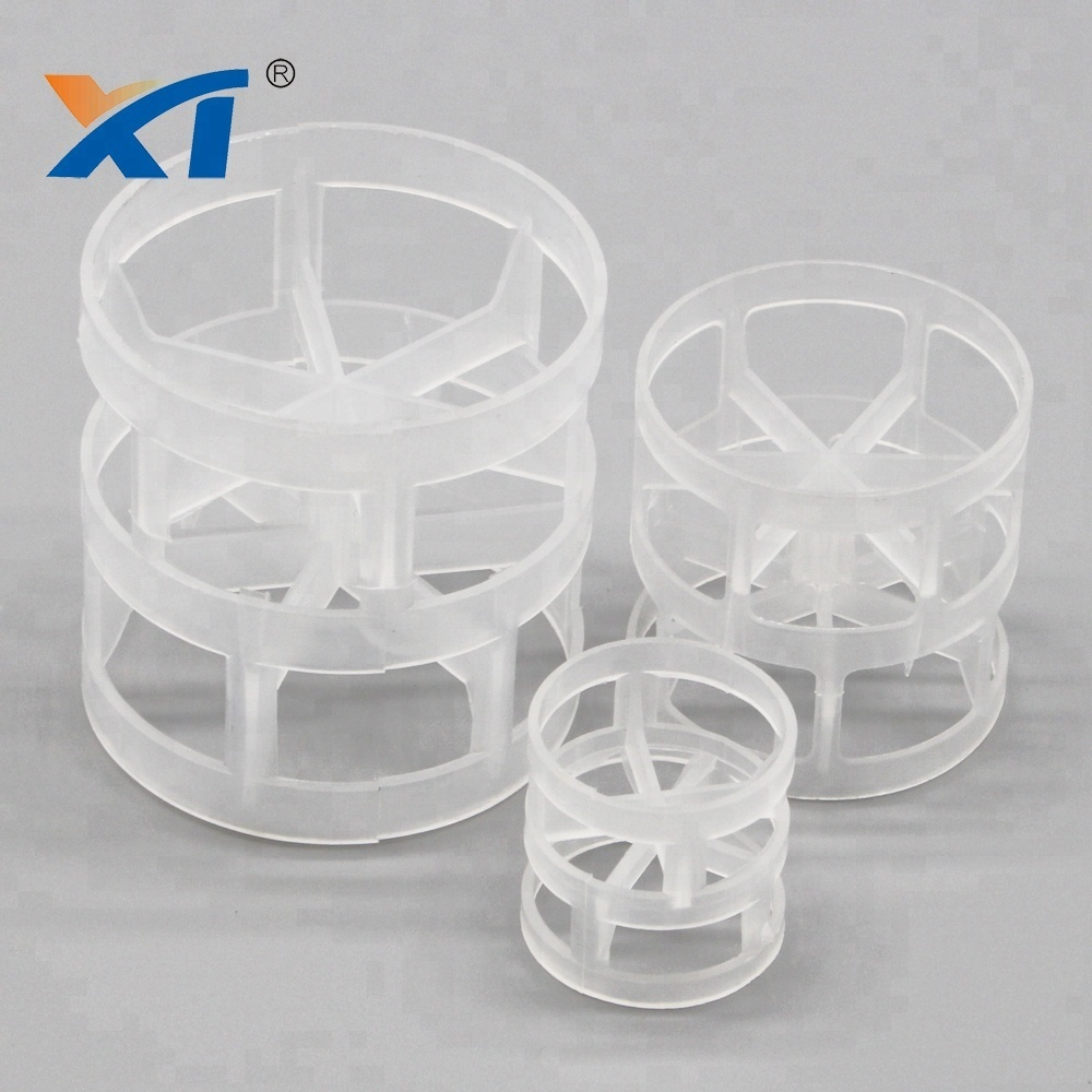 XINTAO PP, PVC, CPVC, PVDF plastic pall rings in srubber packing plastic pall ring