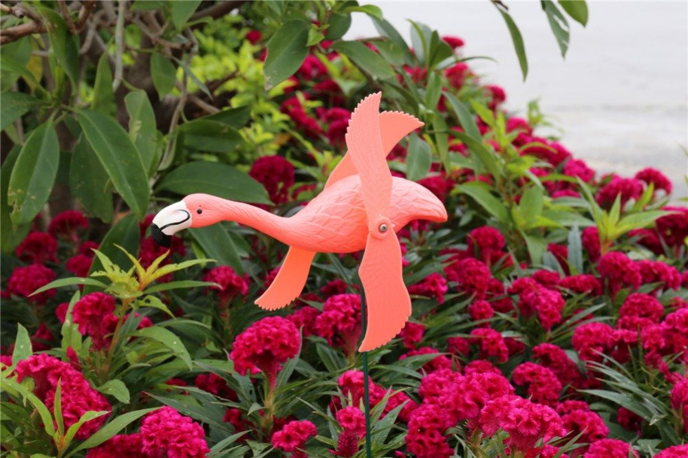 product-Osgoodway-Osgoodway8 Factory direct sale Professional garden windmill plastic flamingo fun d