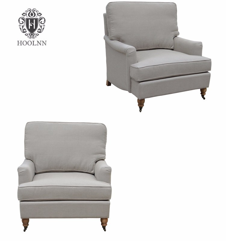 Belgian ClassicRoll Arm Upholstery Living Room Chaise Lounge HL088