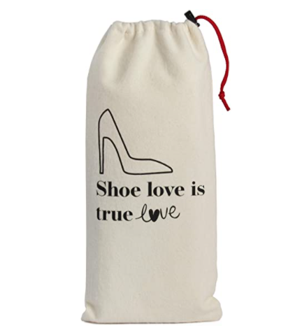 Custom Portable Drawstring Shoe Storage Bag Travel Pouch Travel Sundries Pouch Dust-proofCotton With Drawstring Closure