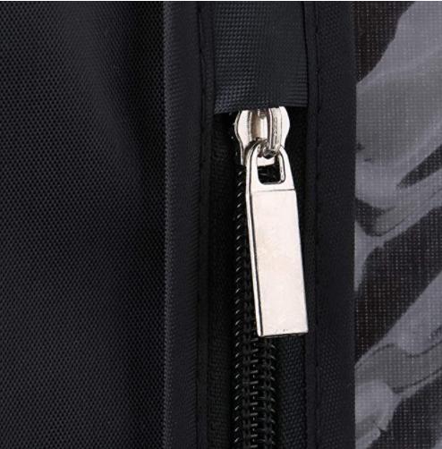 Custom Dust Bags With Zipper and Transparent Window Hanging Coat Suit Garment Wrap Storage Bag Wardrobe Organizer