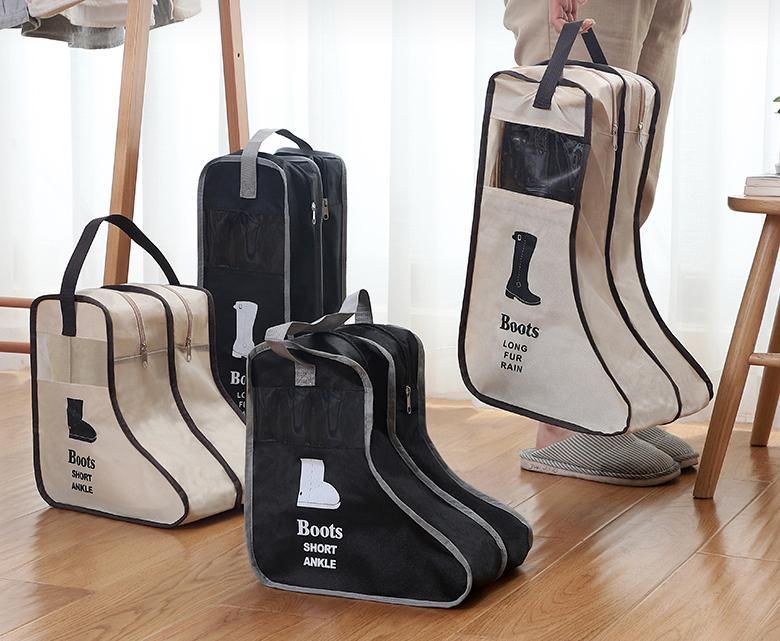 Customized Shoes Storage Bag Organizer Non-woven Travel Portable Bag Waterproof Pocket Hanging Bag