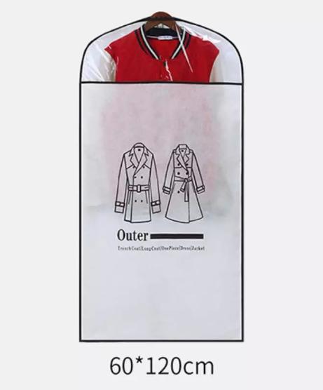 Garment Bag Dress Bags Dust Cover Clear Storage Waterproof Coat Full Length Zipper Closet Organizer Wardrobe Hanging Clothing