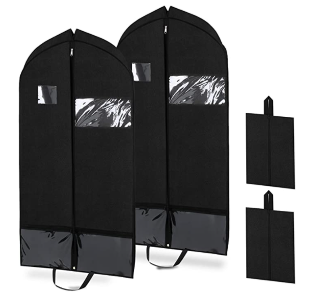 Home Storage Cover Protector Bag for Garment Suit Dress Clothes Coat Jacket Travel Clothing Covers Non-woven Clothes Dust Jacket