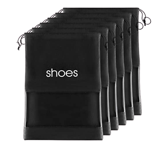 Shoe Storage Bag Organizer Shoes Travel Bags With Drawstring And PVC Window To Identify Shoes