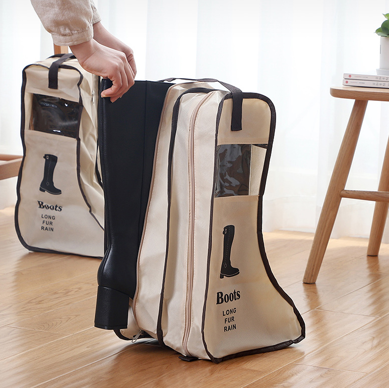 Customized Shoes Storage Bag Organizer Non-woven Travel Portable Bag Waterproof Pocket Hanging Bag