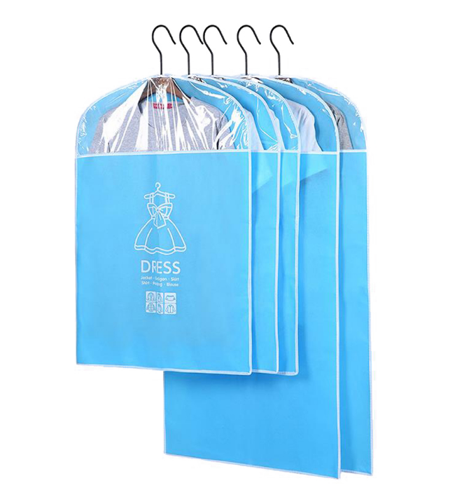 Garment Bag Dress Bags Dust Cover Clear Storage Waterproof Coat Full Length Zipper Closet Organizer Wardrobe Hanging Clothing